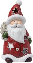 Waxinelichthouder kerstman | 6TE0147 | Winter & Kerst | Clayre & Eef