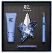 Thierry Mugler Angel Giftset - 25 ml eau de parfum spray + 7 ml eau de parfum tasspray + 50 ml bodylotion - damesparfum