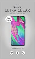 Selencia Duo Pack Ultra Clear Screenprotector voor de Samsung Galaxy A40