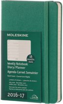 Moleskine 18 Months Weekly Planner 2016/2018 - Pocket - Malachite Green - Hard Cover
