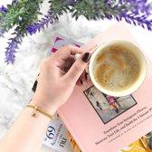 Donna Mae - Stalen armband mesh goldplated letter met kristal