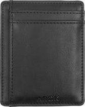 b2109584d88 ARCK Ultra Slim Leren Portemonnee met Venster Incl. RFID Bescherming (Zwart)