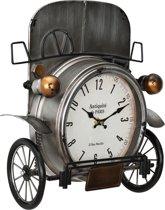 Wandklok - Oldtimer auto - 33x13x36cm - meerkleurig - glas