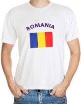 Wit t-shirt Roemenie heren S