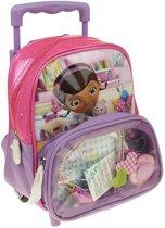 Doc McStuffins schooltas - kleine rugzak en trolley - tas voor 2-5 jaar - incl. gratis stethoscoop