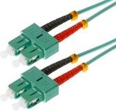 Helos 20m OM3 SC/SC Glasvezel kabel Turkoois