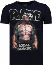 Local Fanatic The Sailor Man - Rhinestone T-shirt - Blauw - Maten: XL