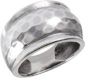 Hammered ring 925 zilver - maat 16.00 mm - maat 16.00 mm