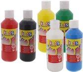 Plakkaatverf Kinderen Basiskleuren 6x500ML