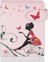Shagwear Portemonnee - Compact Beugelportemonnee - Dames - Kunstleer - Oasis Butterfly (0380sm)