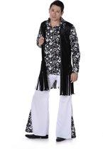Zwart en wit hippie kostuum voor mannen - Volwassenen kostuums