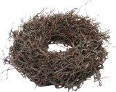Krans - Herfstkrans - Kerstkrans - Hout - Bonsai hout - Bruin - D30 cm
