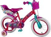 Volare Trolls Kinderfiets - Meisjes - 16 inch - Roze/Paars/Blauw