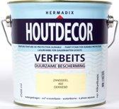 Hermadix Houtdecor Verfbeits Dekkend - 2,5 liter - 602 Zandgeel