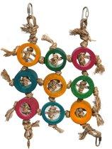 Rosewood Bamboozlers Klimnet - Vogelspeelgoed - Multi - 31X3.5X38 cm