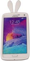 Wit Bumper Konijn Medium Frame Case Hoesje voor Samsung Galaxy A8 2016