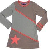 Happy Nr. 1-kleed, jurk-kleur: kaki, rood-maat 104