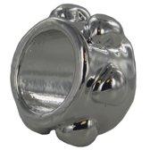 Quiges - Verzilverde Aanschuif Collar Design voor Quiges Wikkelarmbanden - EHC065