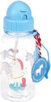 Waterfles - Drinkfles - Rietjesbeker eenhoorn / unicorn