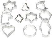 Koekjes vormen - Bakvorm - Uitstekers - Uitsteekvormen- set - 10st