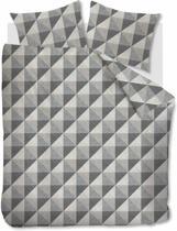 Beddinghouse Stairs -  Dekbedovertrek - Flanel - Eenpersoons - 140x200/220 cm - Zwart