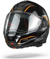 Nolan N100-5 Balteus 44 Glossy Black Orange Systeemhelm - Motorhelm - Maat S