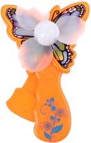 Toi-toys Handventilator Vlinder 14 Cm Oranje