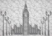 Fotobehang Abstract Floral London Design | L - 152.5cm x 104cm | 130g/m2 Vlies