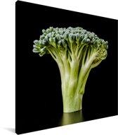 Een close-up van een broccoli Canvas 20x20 cm - klein - Foto print op Canvas schilderij (Wanddecoratie woonkamer / slaapkamer)