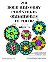 210 Bold and Easy Christmas Ornaments to Color and Display