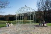 Clp Metalen tuinpaviljoen LEILA rond Ø 229 cm, hoogte 313 cm, rozenboog, rank hulp, weersbestendig, paviljoen voor klimplanten, eenvoudig, stijlvol design - antiek-groen