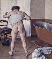 Gustave Caillebotte : Man at his Bath (1884) Canvas Print