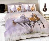 Paarden 2 persoons dekbedovertrek, Paard dekbed 200 x 200 centimeter
