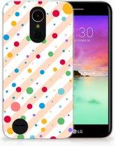 LG K10 2017 TPU Hoesje Design Dots