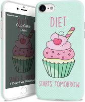i-Paint soft case Cupcake - blauw - voor iPhone 7/8