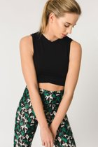 Gugu Black - crop top