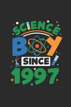 Science Boy Since 1997: Graph Ruled Notebook / Journal (6'' X 9'' - 5 X 5 Graph Ruled) - Science Student and Scientist Birthday Gift Idea