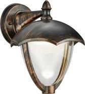 Trio Leuchten WL Cappe - Wandlamp - 1 lichts - D 230 mm - roestbruin