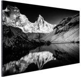 Kedartal  zwart-wit Aluminium 30x20 cm - klein - Foto print op Aluminium (metaal wanddecoratie)