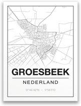 Poster/plattegrond GROESBEEK - A4