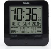 Alecto AK-20 Wekker met thermometer | Wekker met thermometer | Weergave binnentemperatuur | zwart