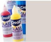 Creall Glass contour -  glasstickerverf zilver 1 Fles - 80 Mililiter 20112
