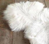 WOOOL Schapenvacht Wit XL (110-120cm) 100% Echt Wol - ECO Gelooid - Zeer Groot