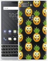 BlackBerry Key2  Hoesje Happy Ananas