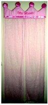 Tectake Fairy - Kant en klaar deurgordijn - Roze - 38x49 cm - Per stuk