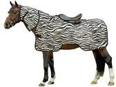 Vliegenuitrijdeken -Zebra- wit/zwart 195