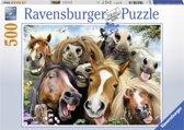 Ravensburger puzzel Paardenselfie Puzzel 500 stukjes
