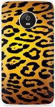 Motorola Moto G5 hoesje Luipaard Goud Zwart