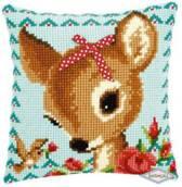 Kussen Bambi met strikje