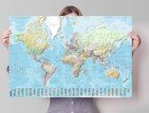 REINDERS Wereldkaart -Nederlands - Poster - 91,5x61cm